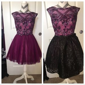 Sherri Hill cocktail size 2/4 with removable skirt